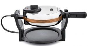 BELLA Copper Titanium Coated Rotating Belgian Waffle Maker