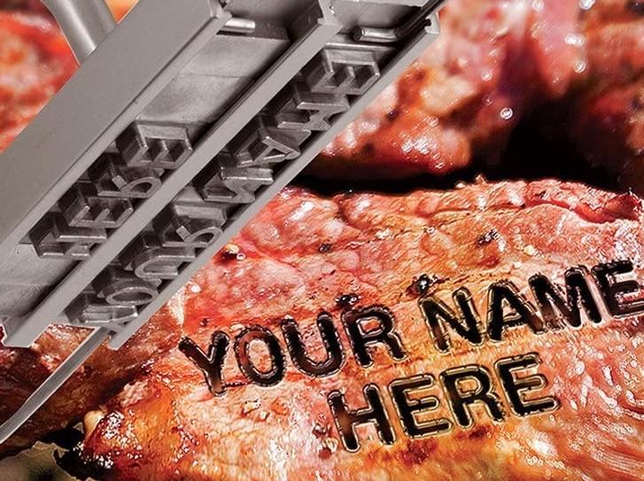 personalized steak iron