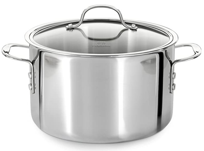 Calphalon (1767727) Tri-Ply Stainless Steel 8-Quart Stock Pot with Cover