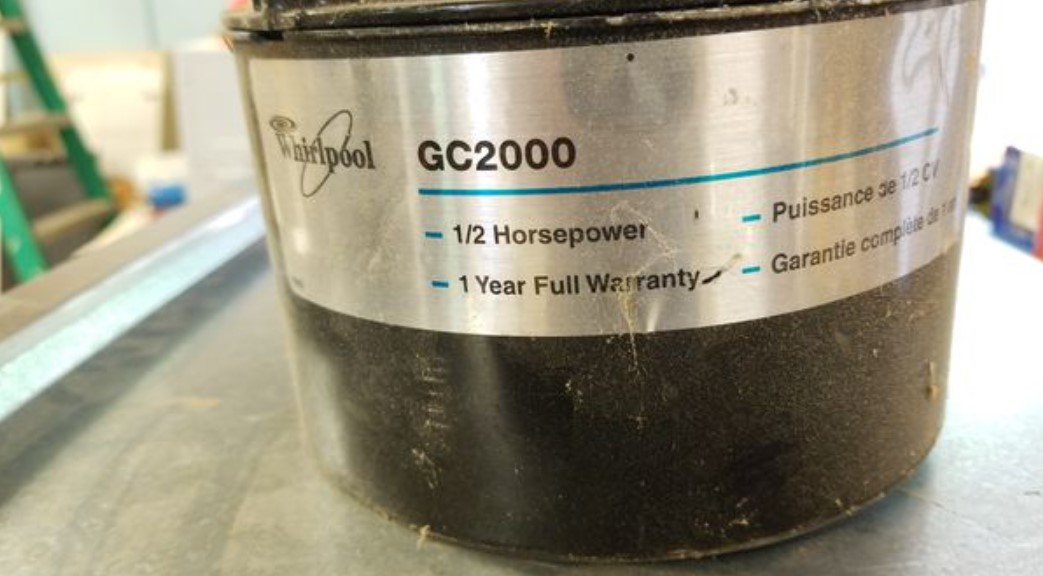 Whirlpool GC2000 Garbage Disposal How to & Troubleshooting Guide