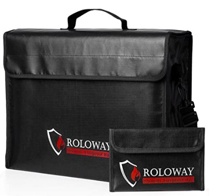 ROLLWAY Fireproof Document Bag